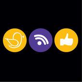ícones sociais — Vetorial Stock
