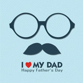 I love my dad — Stock Vector