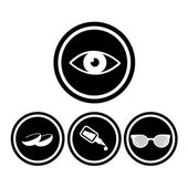 Iconos de ojo médica — Vector de stock