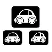 Classic car icons — Stock Vector