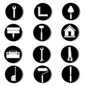 Icônes de construction — Vecteur