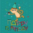 Monkey celebrating — Stock Vector #27907147