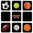 Sports balls icons — Stock Vector #27907183