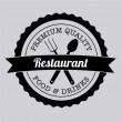 Restaurant label — Stock Vector