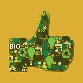Green like — Stock Vector