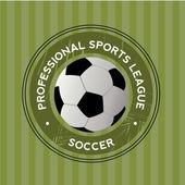 Fotbalová ikona — Stock vektor
