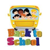 автобусная школа — Cтоковый вектор
