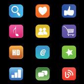 Social-media-symbole — Stockvektor