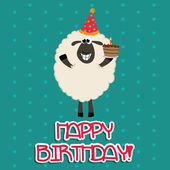 Happy sheep — Stock Vector