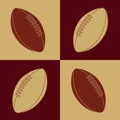 Football ball — Stock Vector