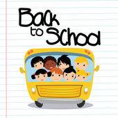 Scuolabus — Vettoriale Stock