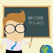 Willkommen in klasse — Stockvektor