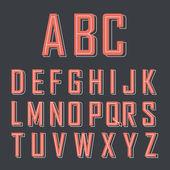 赤のアルファベット — ストックベクタ
