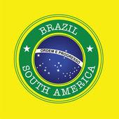 Brazílie razítko — Stock vektor