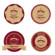 Espresso labels — Stock Vector
