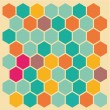 Hexagon background — Stock Vector
