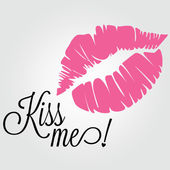 Kiss me — Stockvector