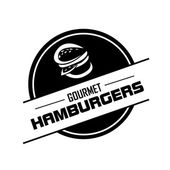 Hamburger label — Stock Vector