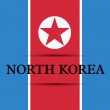 North Korea — Stockvektor