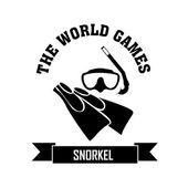 Snorkel — Stock Vector