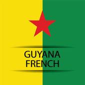 Guyana french — Stock Vector