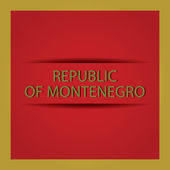 Republic of Montenegro — Stock Vector