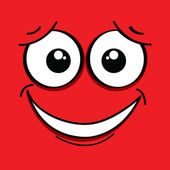 Red face — Stock Vector