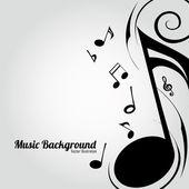 Muziek achtergrond — Stockvector