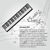 Pianoforte — Vettoriale Stock