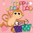Happy day, Dad — Stock Vector