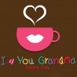 Stock Vector: I love you grandma