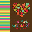 I love you grandma — Stock Vector #30455707