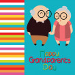 Stock Vector: Grandparents