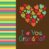 I love you grandma — Stock Vector