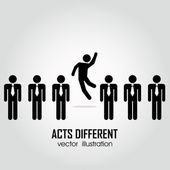 Acts different — Stock Vector