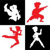 Martial artist — Stock Vector