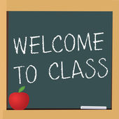 Welcome to class — Stock Vector