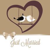 Recém-casados — Vetorial Stock