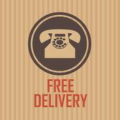 Consegna gratuita — Vettoriale Stock