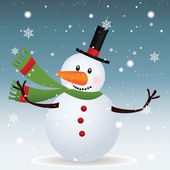 Snowman — Stok Vektör