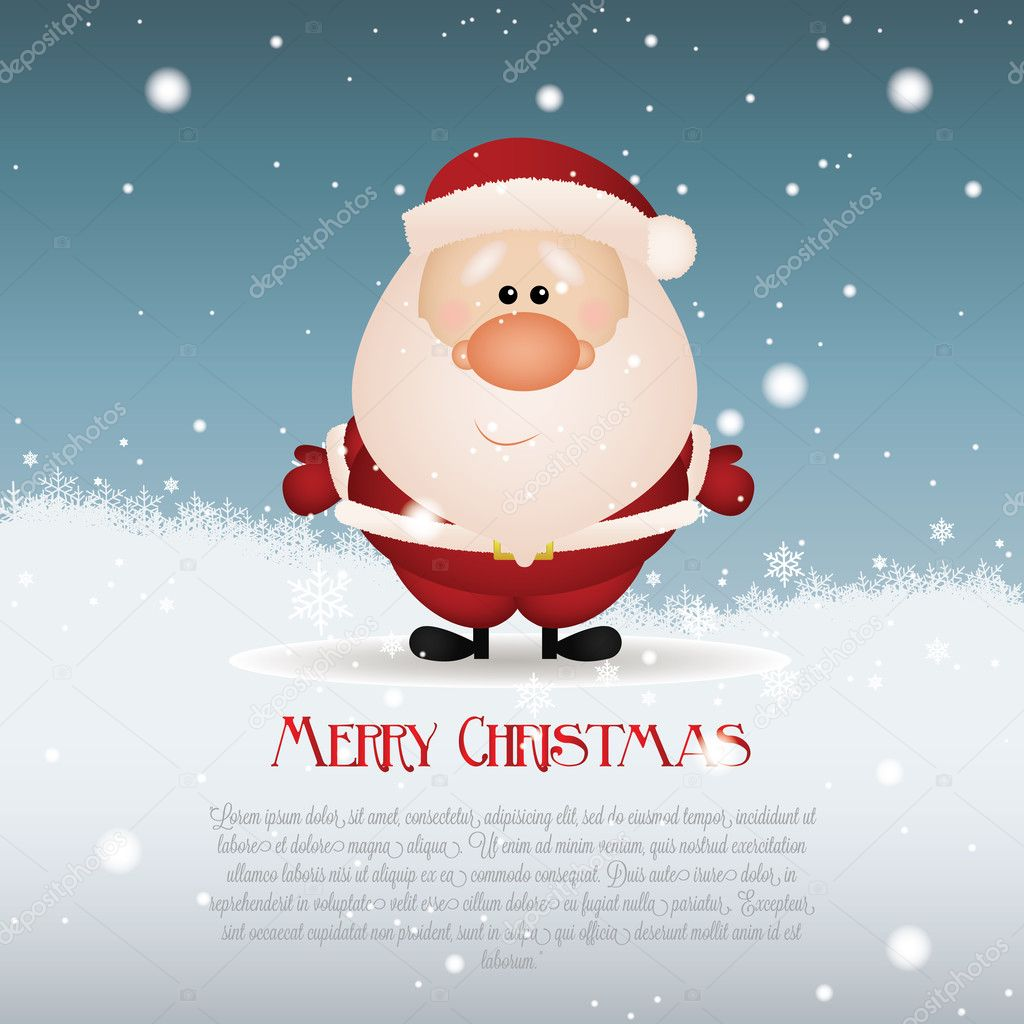 特别的圣诞背景抽象的可爱圣诞老人