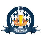Beer and pretzel — Stock Vector