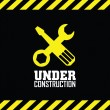 Under contruction — Stockvektor