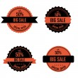 Halloween labels — Stockvectorbeeld