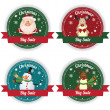 Christmas labels — Stock Vector