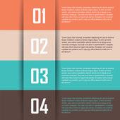 Four steps — Stock Vector