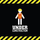 Under contruction — Stock Vector