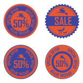 Halloween labels — Stock Vector
