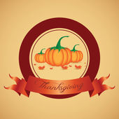 Thanksgiving day Label — Stock Vector