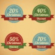 Christmas Sale Labels — Stock Vector #33022121